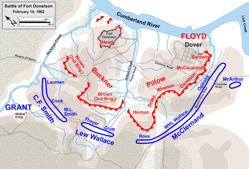Fort Donelson Battle Map